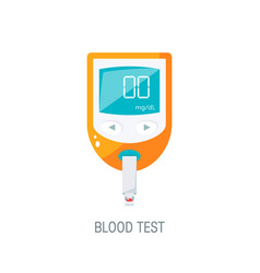 Blood glucose monitor icon in flat style vector