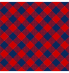 Blue red check diagonal textile seamless pattern vector