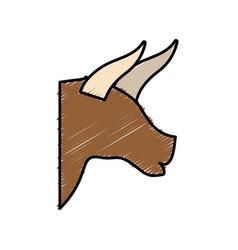 bull icon image vector image