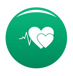 cardiology icon green vector image