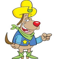 Cartoon Cowboy Dog vector