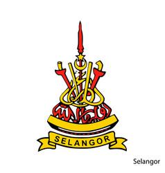 Coat arms selangor is a malaysian region vector