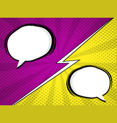 comic book pop art with blank speech bubble vector image