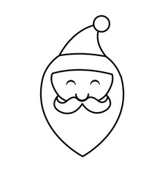 Cute santa claus character head vector