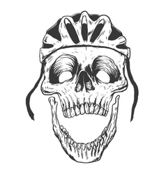 Cyclist Skull vector