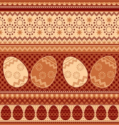 easter pattern seamless vector image