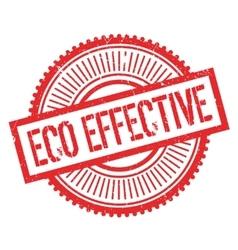 Eco effective stamp vector