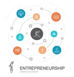 Entrepreneurship colored circle concept vector