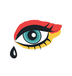 Eye with makeup rock theme vector