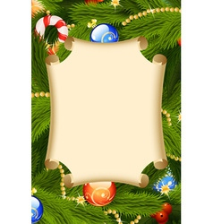 fir-tree card decoration vector image