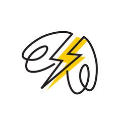 Flash firefly logo vector
