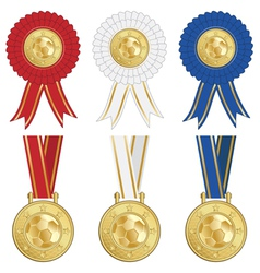 football rosettes vector image
