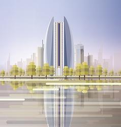 Futuristic city design vector image