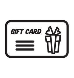 gift card present for birthday or christmas vector image