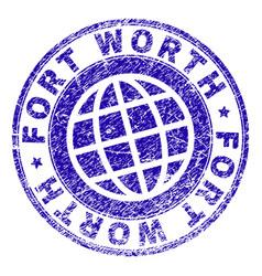Grunge textured fort worth stamp seal vector