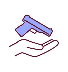 Gun ownership rgb color icon vector