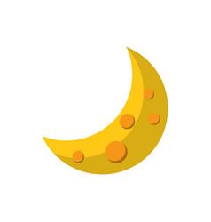 Half moon star astrology flat icon image vector