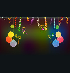 happy new year confetti and fame celebration vector image