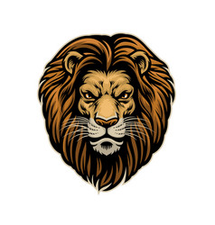Head handdrawn angry lion vector