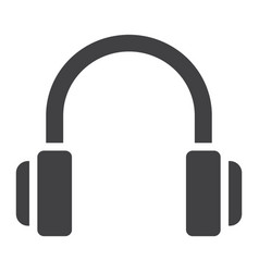 Headphones glyph icon web and mobile listen sign vector