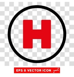 Helicopter Landing Eps Icon vector
