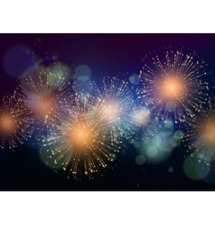 Holiday Fireworks Background vector image