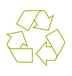 icon of recycle symbol - residue utilization vector image