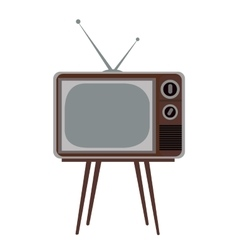 Isolated retro television vector image