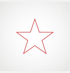 Linear icon communism red star minimalist vector