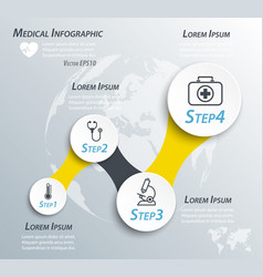 medical timeline infographic and line icon vector image