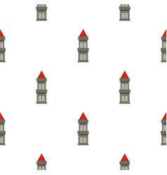 Medieval battle tower pattern seamless vector