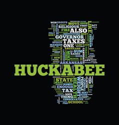 Mike huckabee a political profile text background vector
