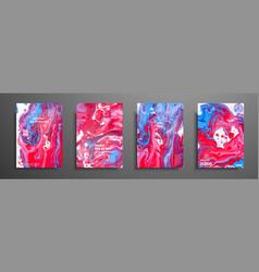 mixture of acrylic paints liquid marble texture vector image