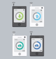 Mobile download upload vector