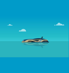 modern boat on sea with sky backgroundholiday vector image
