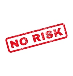 No Risk Rubber Stamp vector