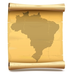 Paper Scroll with Brazil vector image