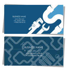Plumbing business card concept vector