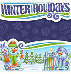 poster for winter holidays vector image