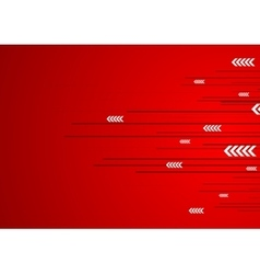 Red technology design with lines stripes and vector