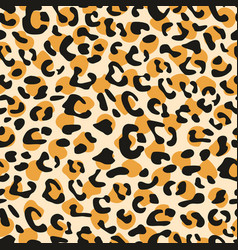 Seamless leopard pattern design animal tile print vector