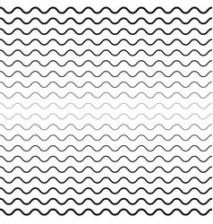 Seamless wavy lines background vector