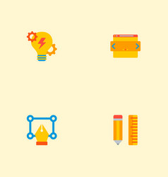 Set of development icons flat style symbols with vector