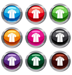 shirt polo set 9 collection vector image