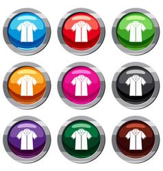 Shirt polo set 9 collection vector