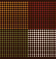 Small autumn plaids vector