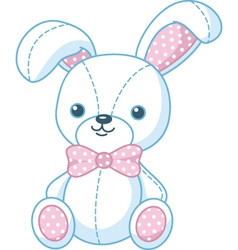 soft toy bunny vector image