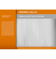 template orange s vector image