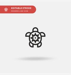 turtle simple icon symbol vector image