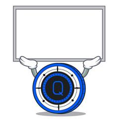 Up board qash coin character cartoon vector
